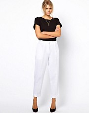 ASOS Peg Trousers in Linen