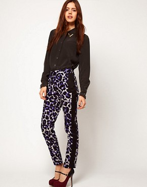 Image 1 ofASOS Trousers in Digital Animal Print