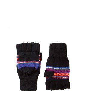 Image 1 ofASOS Hood Gloves With Fairisle Design