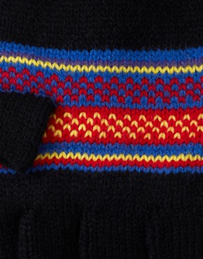 Image 2 ofASOS Hood Gloves With Fairisle Design