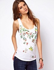 Vivienne Westwood Anglomania For Lee Floral Tank