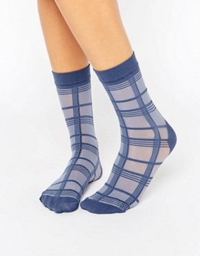 Pretty Polly Grid Stripe Sock