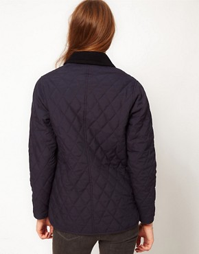Image 2 ofBarbour Ladies Eskedale Quilted Jacket In Navy