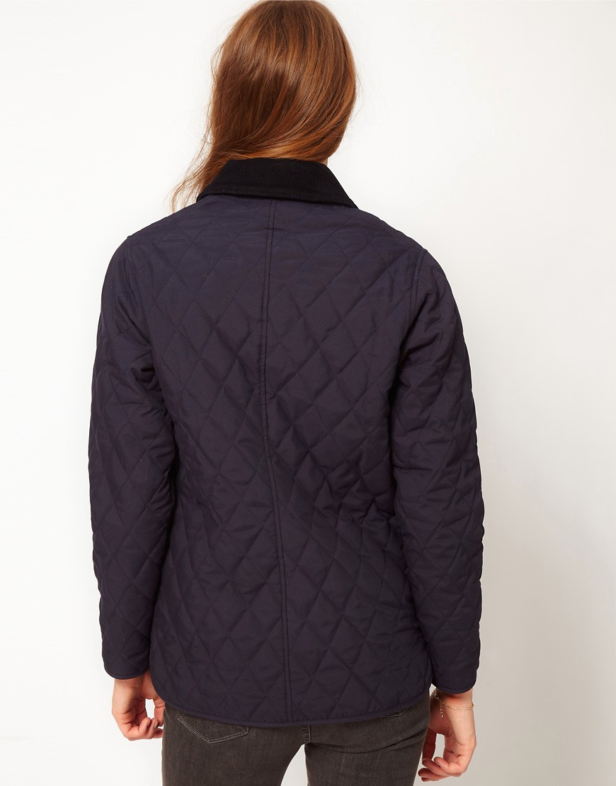Image 2 of Barbour Ladies Eskedale Quilted Jacket In Navy
