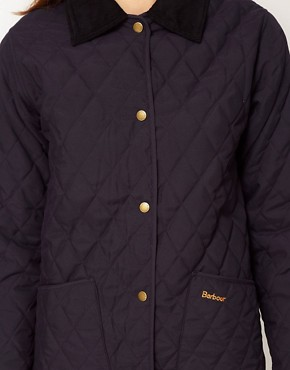 Image 3 ofBarbour Ladies Eskedale Quilted Jacket In Navy