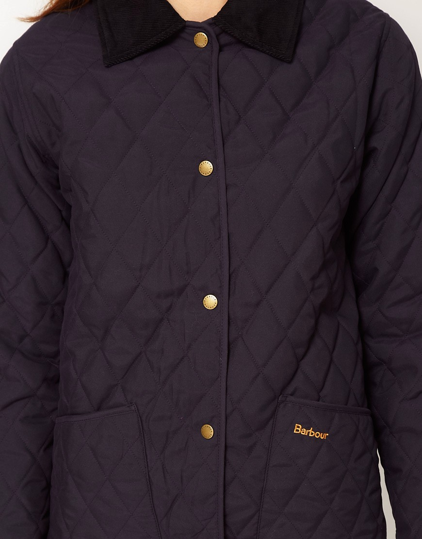 Image 3 of Barbour Ladies Eskedale Quilted Jacket In Navy