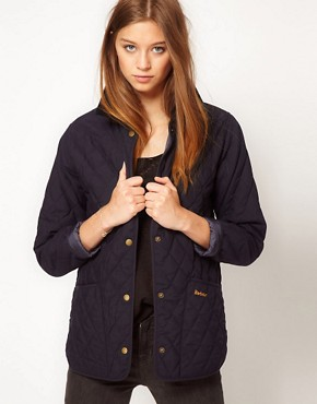 Image 1 ofBarbour Ladies Eskedale Quilted Jacket In Navy