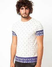 ASOS T-Shirt With All Over Paisley Print