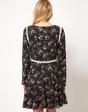 Image 2 ofLove Tea Dress in Folk Print