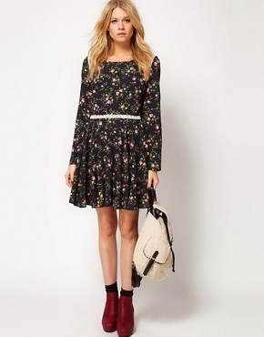 Image 4 ofLove Tea Dress in Folk Print