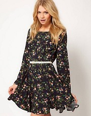 Love Tea Dress in Folk Print