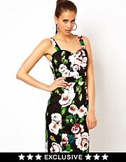 Paper Dolls Floral Bodycon Dress
