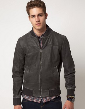 Image 1 ofSelected Washed Leather Jacket