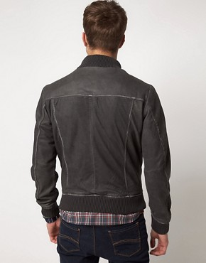 Image 2 ofSelected Washed Leather Jacket
