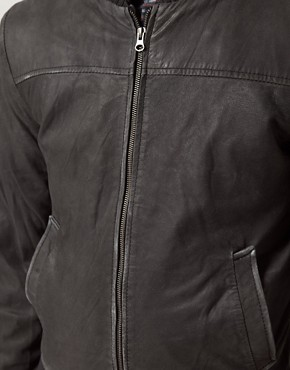 Image 3 ofSelected Washed Leather Jacket