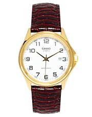 Casio Watch MTP-1188Q-7BEF Leather Strap