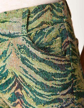 Image 3 ofAntipodium Pixel Shorts in Tiger Tapestry