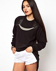 The Ragged Priest Crop Sweatshirt with Mesh Hem