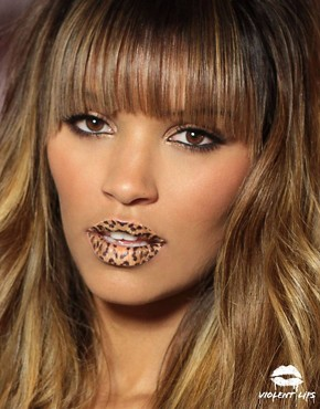 Image 2 ofViolent Lips Temporary Lip Tattoos - Animal Print
