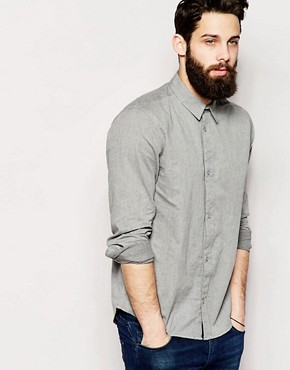 Waven Shirt Slim Fit Chambray