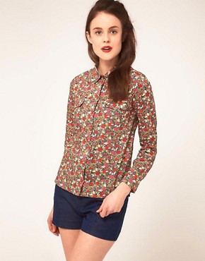 Image 1 ofSessun Shirt in Liberty Print Floral