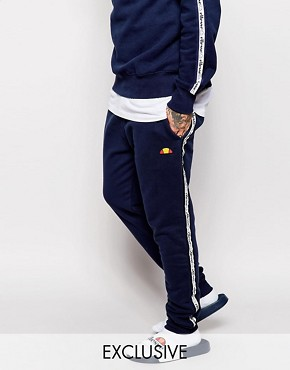 Ellesse Skinny Joggers With Taping