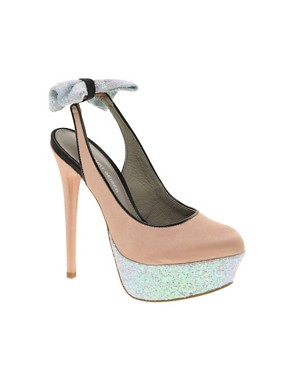 Image 1 ofKG Norma Bow Back Slingback Platform Shoes