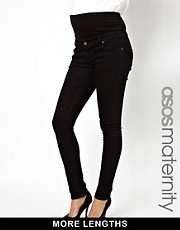 ASOS Maternity Black Slim Fit Jeans With Jersey Waistband