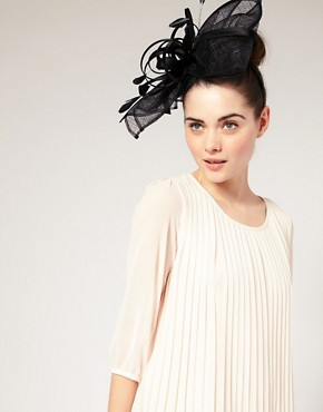 Image 1 ofASOS Statement Sinamay Bow And Ribbon Fascinator