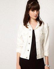 Cheap Monday  Jeansjacke im Used-Look