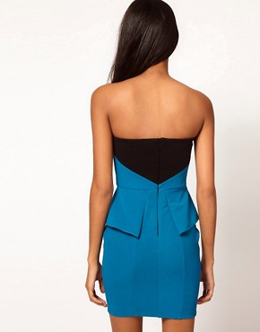 Image 2 ofLipsy Bandeau Dress with Contrast Panel