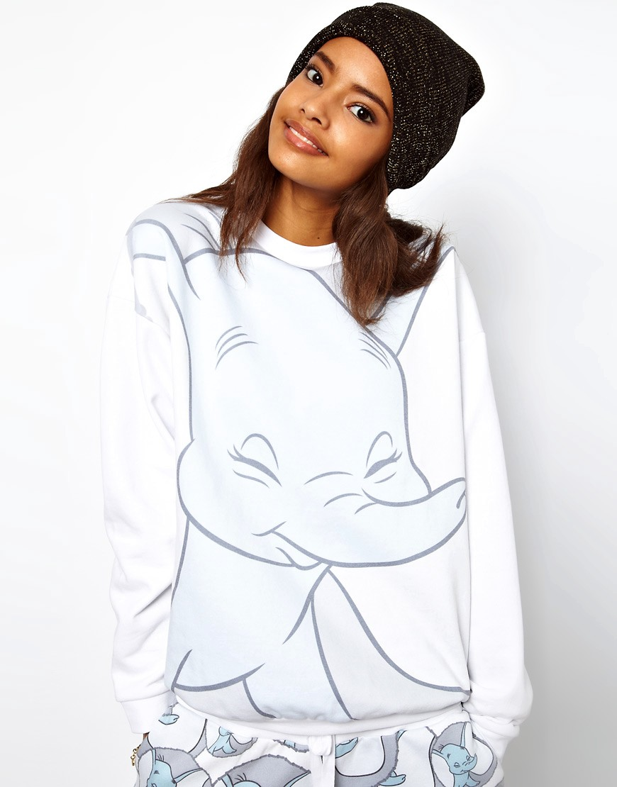 Image 1 of ASOS Sweatshirt with Dumbo Print