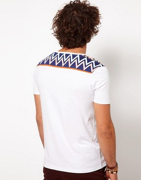 Image 2 ofASOS T-Shirt With Printed Shoulder And Back Panel