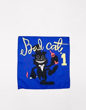 ASOS Pocket Square With Bad Cat Print
