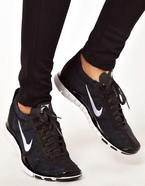 Image 4 ofNike Free Training Twist Black Trainers