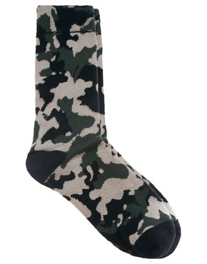 Image 1 ofHumor Camo Socks