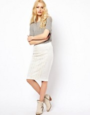 River Island Lazer Cut Pencil Skirt
