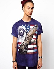 The Mountain T-Shirt with Spirit of America Print