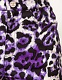 Image 3 ofMotel Izzy High Waist Shorts in Leopard Print