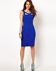 Vesper Pencil Dress with Cut Out Detail