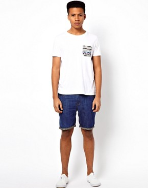 Image 4 ofBellfield Denim Shorts With Turn Up