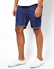 Bellfield Denim Shorts With Turn Up