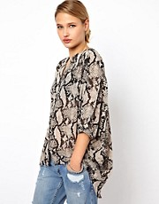 Selected Ghita Snake Print Shirt