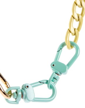 Image 4 ofASOS Pastel Coated Mixed Chain Necklace