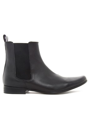 Image 4 ofASOS Chelsea Boots in Leather