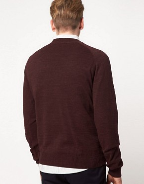 Image 2 ofFred Perry Jumper Vintage Marl Crew Neck