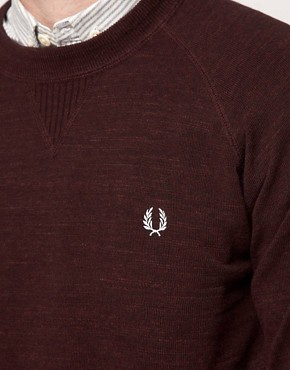 Image 3 ofFred Perry Jumper Vintage Marl Crew Neck