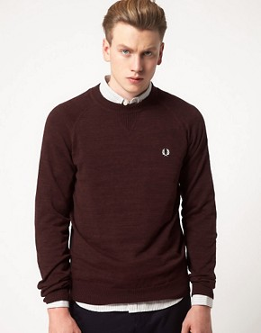 Image 1 ofFred Perry Jumper Vintage Marl Crew Neck