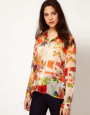 Image 1 ofEquipment Floral Silk Blouse