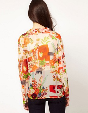 Image 2 ofEquipment Floral Silk Blouse